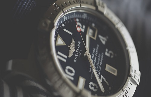 Closeup of a mens watch