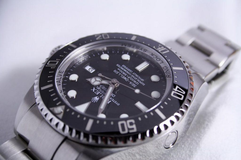 Rolex watch on a white background